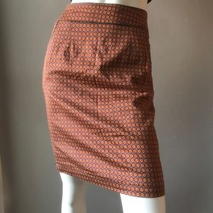 ANTHROPOLOGIE TULLE MINI PRINT LINED PENCIL SKIRT